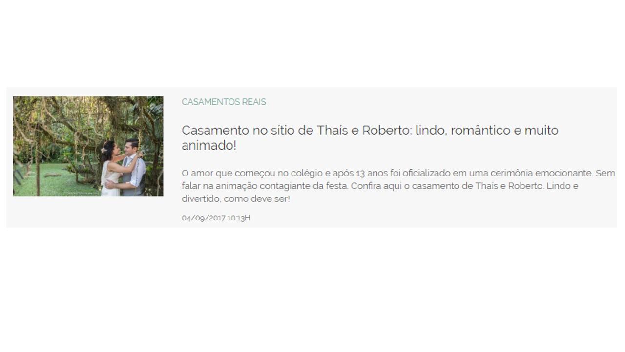 Thais e Roberto
