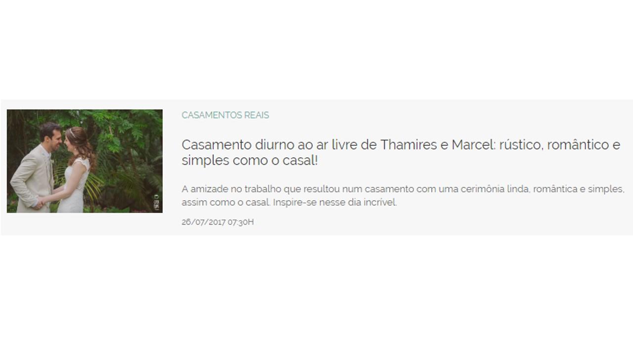 Thamires e marcel